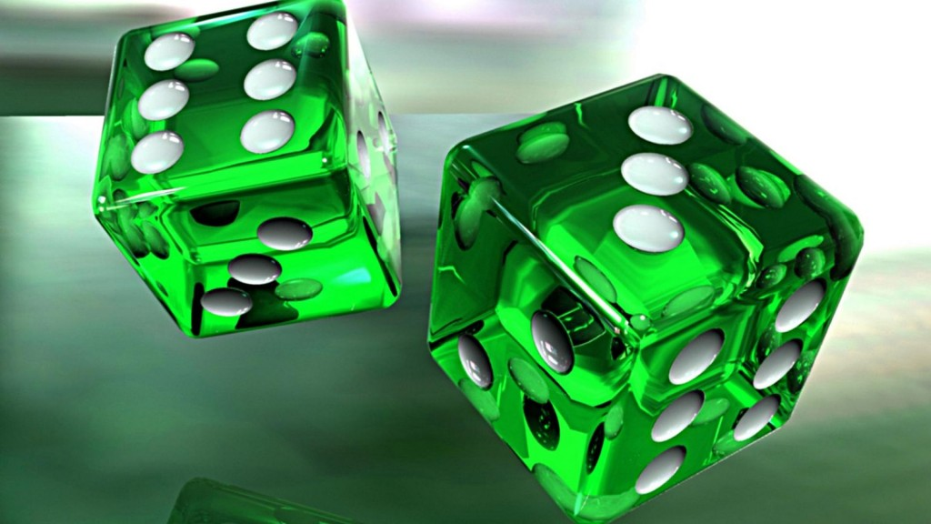 3D-Green-Dice-HD-Wallpaper